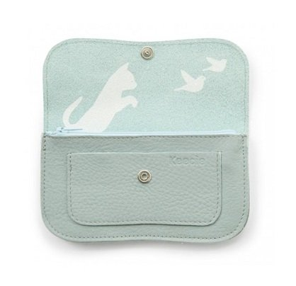 4cd51e6a123 Keecie Wallet Cat Chase Medium Dusty Green - Kado in Huis