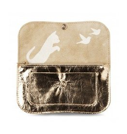 Keecie Wallet Cat Chase Medium Gold