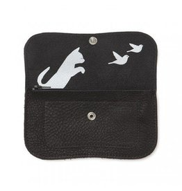 Keecie Wallet Cat Chase Medium Black