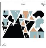 Nuukk Porselein Stickers Little Town