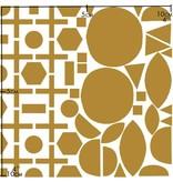 Nuukk Porselein Stickers Golden Geo