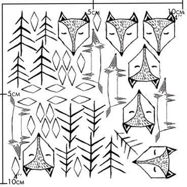 Nuukk Porselein Stickers Fox in the Forest