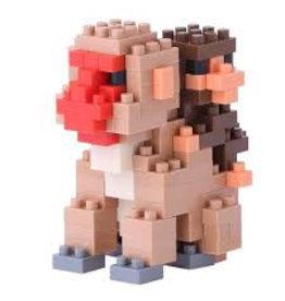 Nano Blocks Building Kit Mother Monkey with Baby