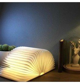 Starbook Buchlampe Dunkel Holzabdeckung