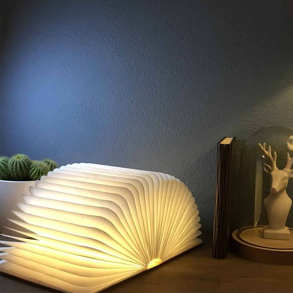 Starbook Boeklamp Donkerhouten kaft