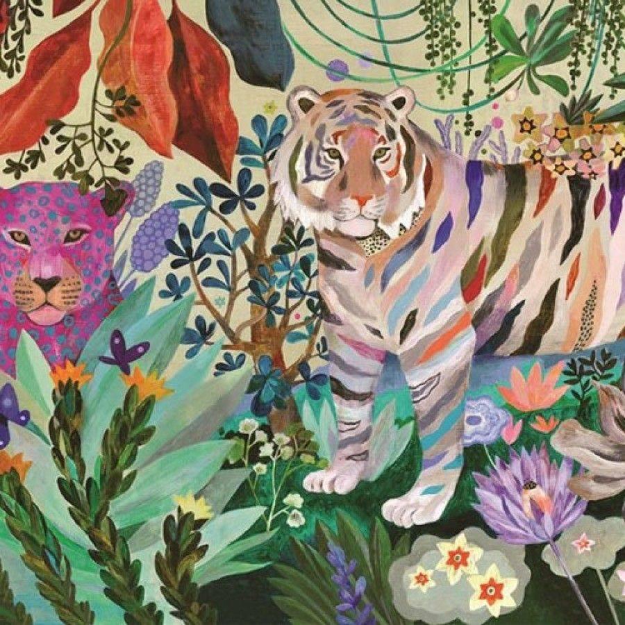 Djeco Puzzle Rainbow Tigers 1000 pieces