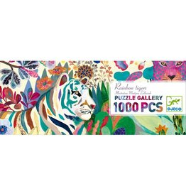 Djeco Puzzle Rainbow Tigers 1000 pieces