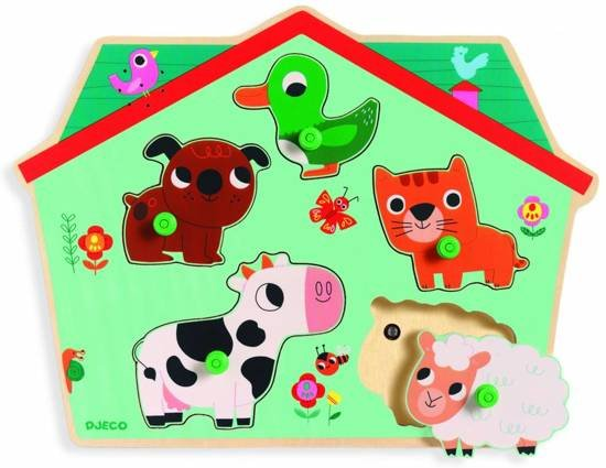 Djeco Puzzle mit Ton Ouaf Woof