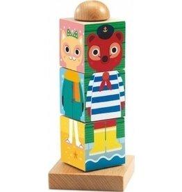 Djeco Puzzle Holzblöcke Twistanimo