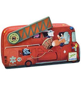 Djeco Puzzle Feuerwehrauto