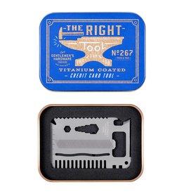 Gentlemen's Hardware Credit Card Titanium Multitool