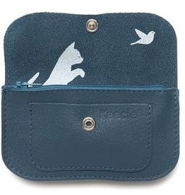 Keecie Wallet Cat Chase Small  Faded Blue