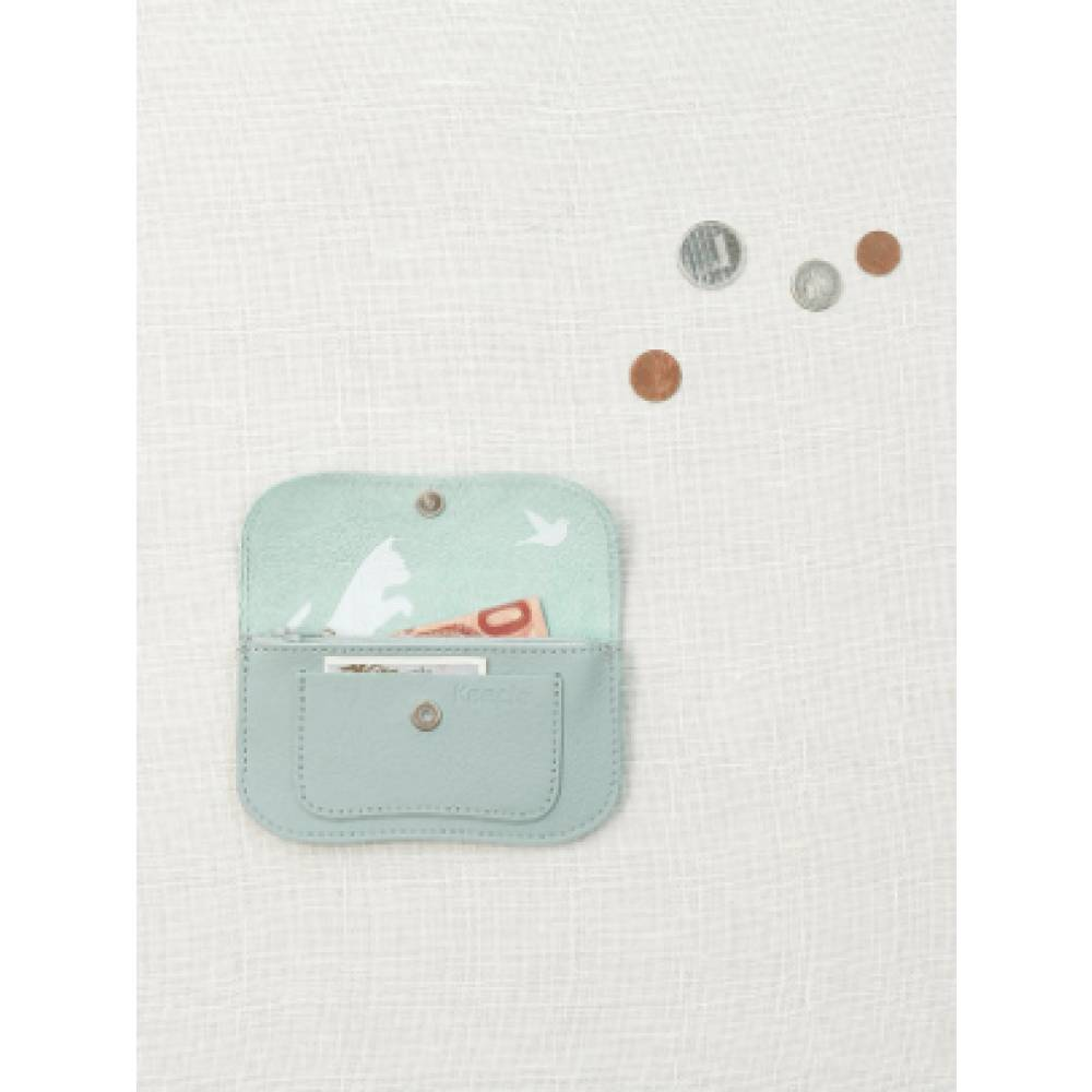 6d02e1824d9 Keecie Wallet Cat Chase Small Dusty Green - Kado in Huis