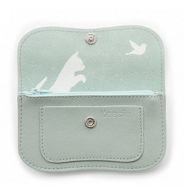 Keecie Wallet Cat Chase Small  Dusty Green