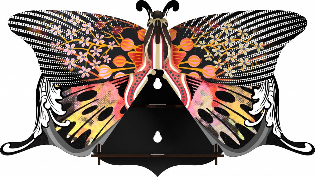 Miho Design Holz Schmetterling Madame Butterfly