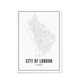 Wijck Poster Centrum Londen 21 x 30 cm