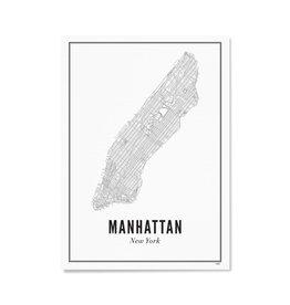 Wijck Poster Manhattan New York 21 x 30 cm