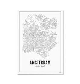 Wijck Poster Amsterdam 30 x 40 cm