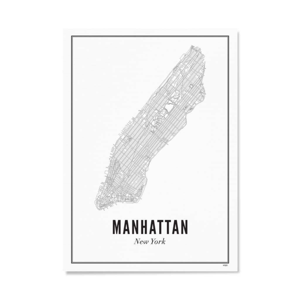 Wijck Poster Manhattan New york 40 x 50 cm