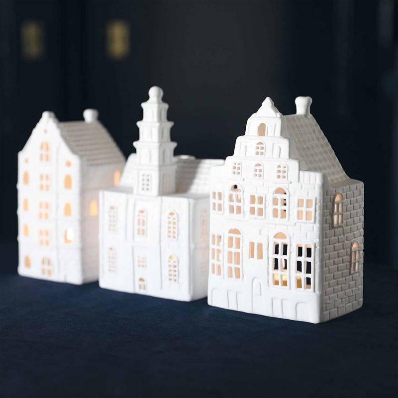 &Klevering Theelichthouder Grachtenhuis Trapgevel large