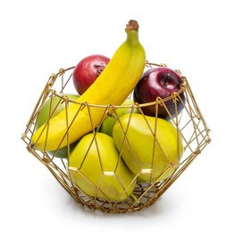 Balvi Fruit basket Multi Form gold