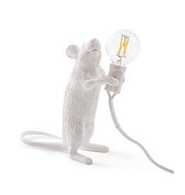 Seletti Lamp Mouse stehend weiß