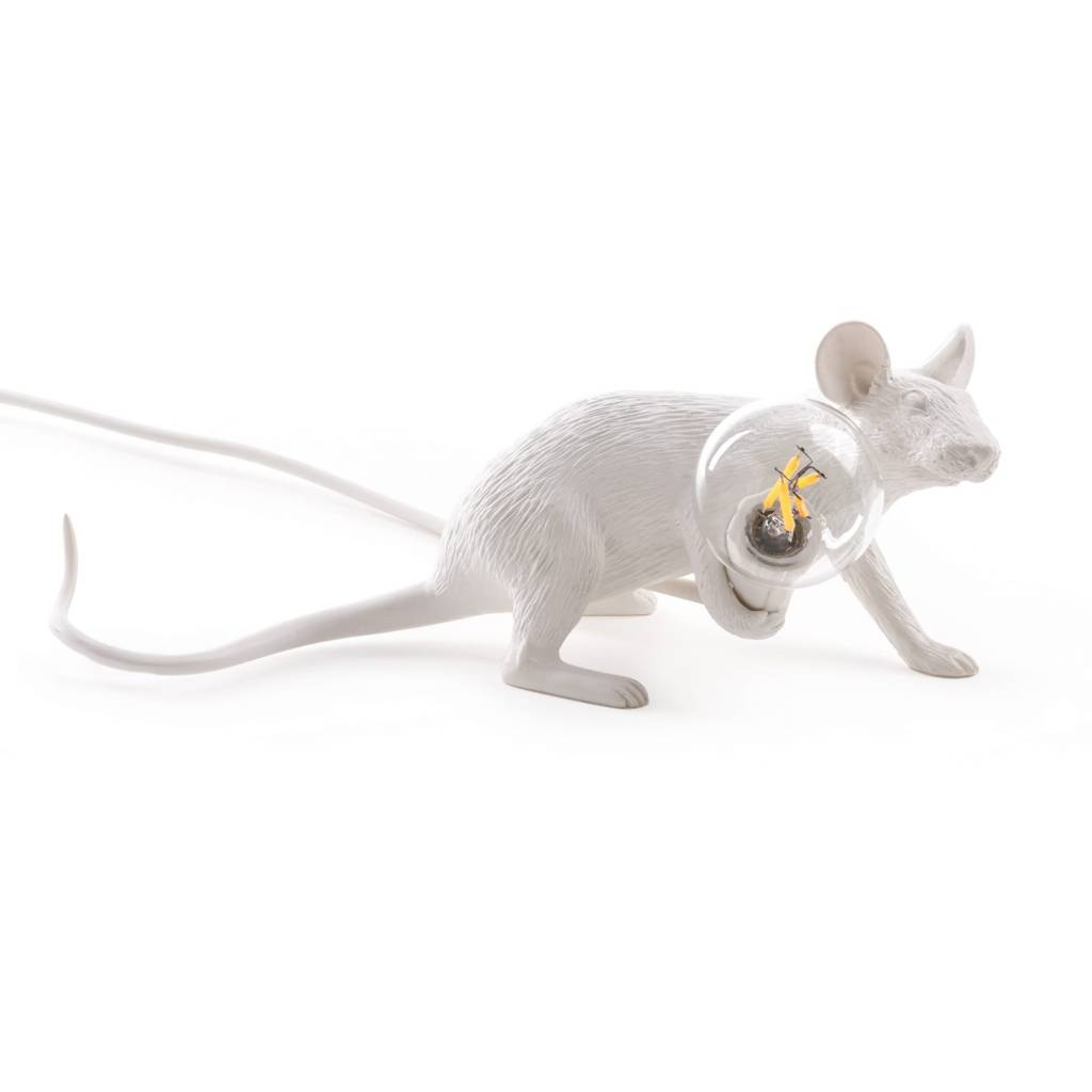 Seletti Lamp Mouse liggend wit