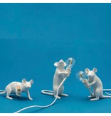 Seletti Lamp Mouse zittend wit