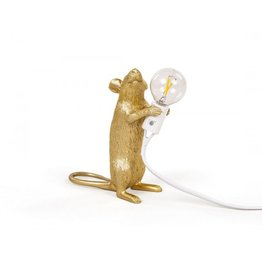 Seletti Lamp Mouse standing gold