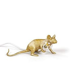 Seletti Lamp Mouse liggend goud