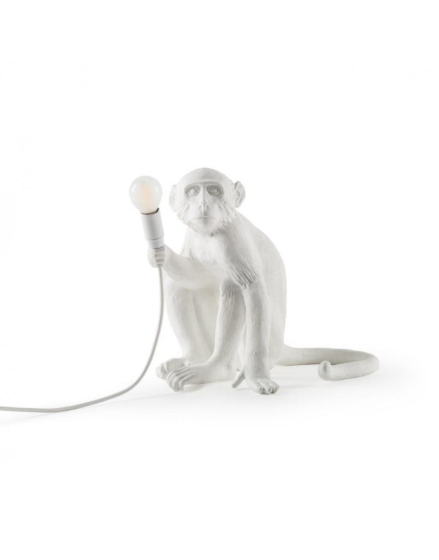 Seletti Lamp Monkey sitzend weiss