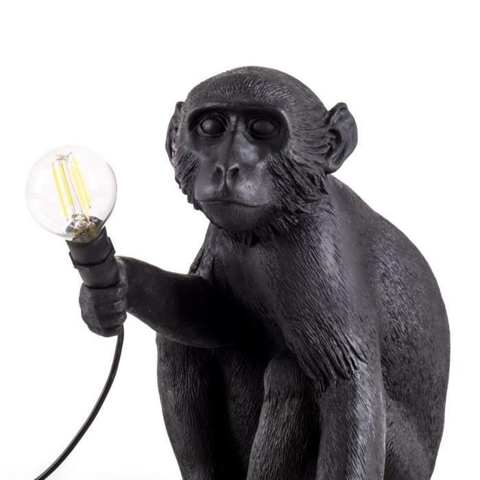 Seletti Lamp Monkey sitzend schwarz