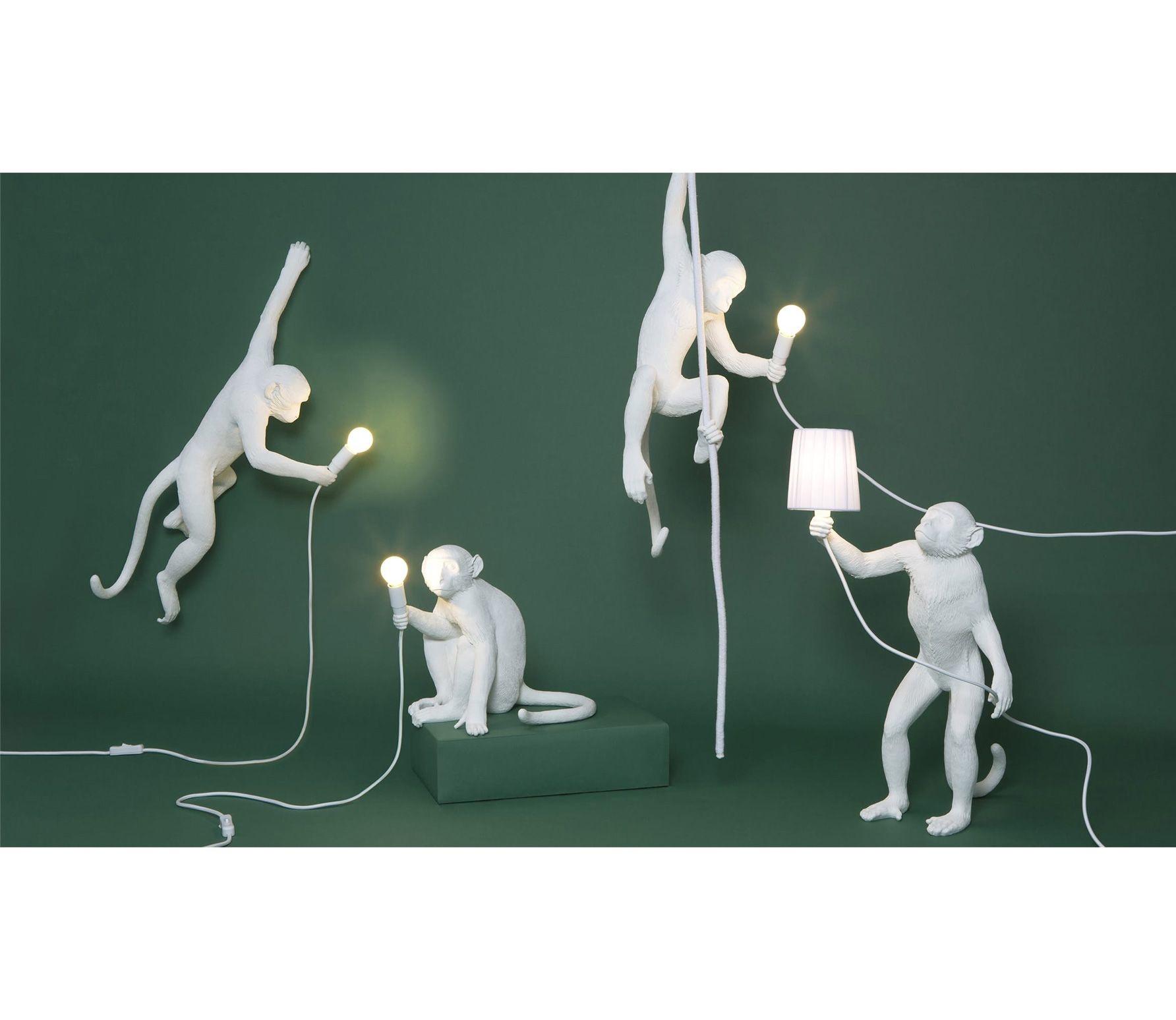Seletti Wandlamp Monkey hangend wit