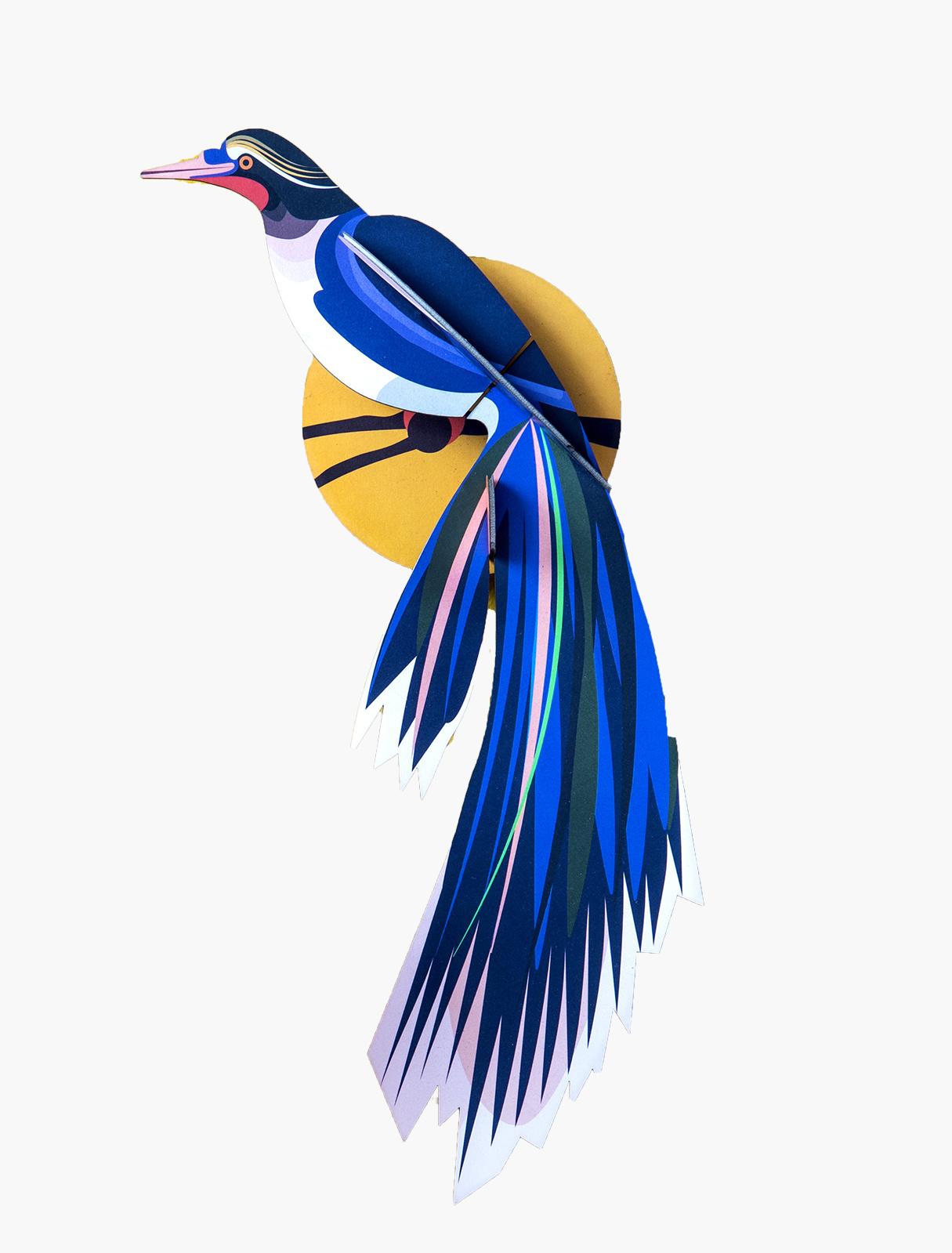 Studio Roof 3D Wanddecoratie Paradise Bird Flores