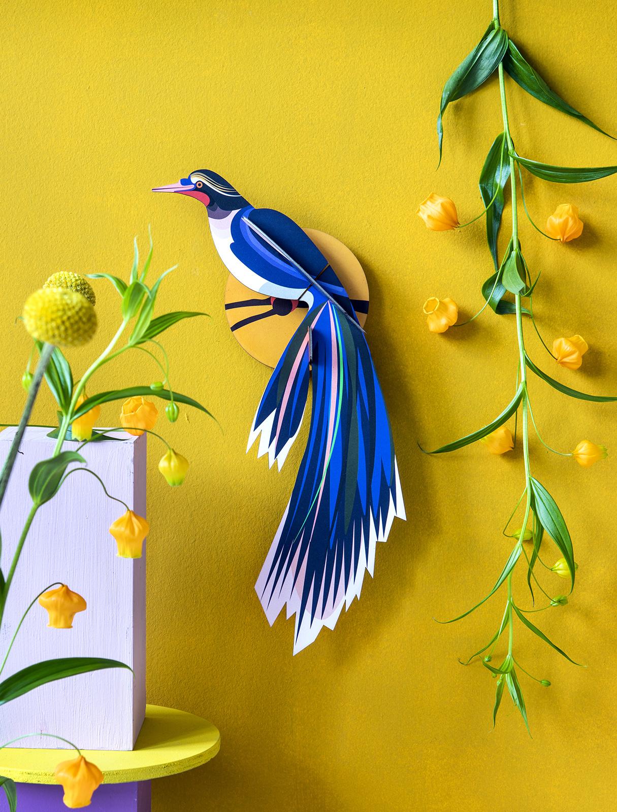 Studio Roof 3D Wanddekoration Paradise Bird Flores