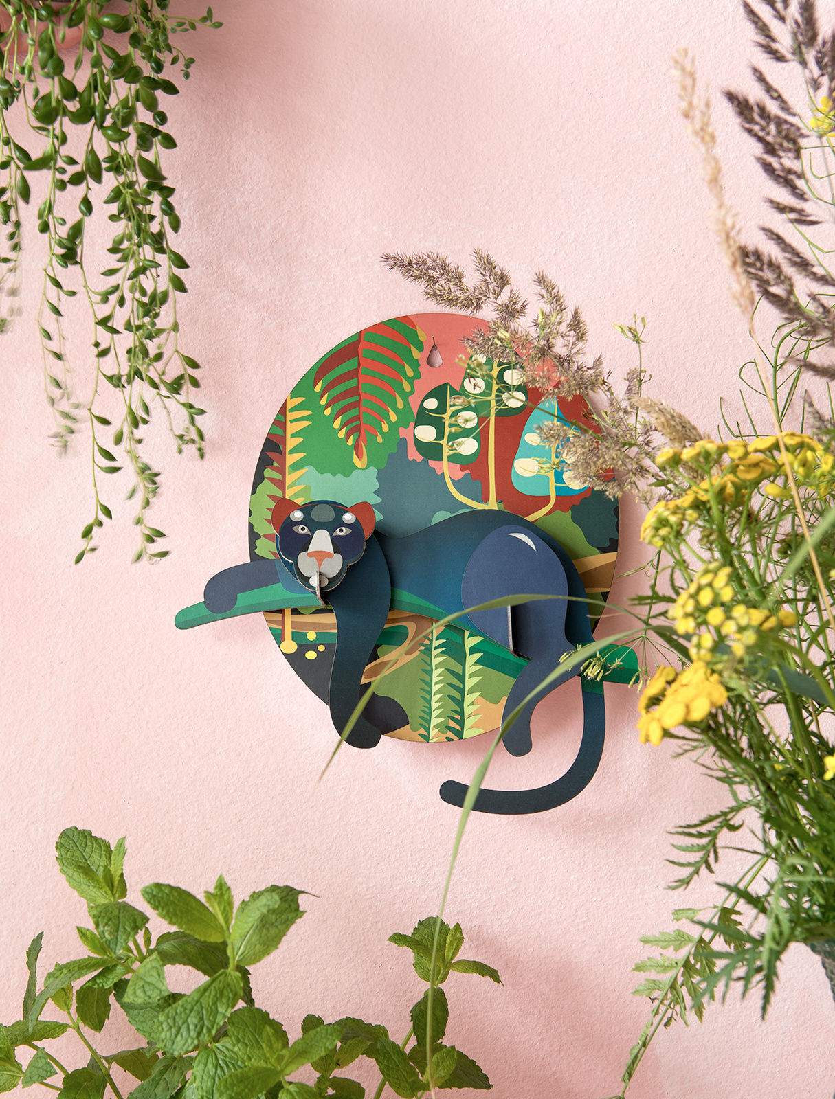 Studio Roof 3D Wall Decoration Jungle Puma