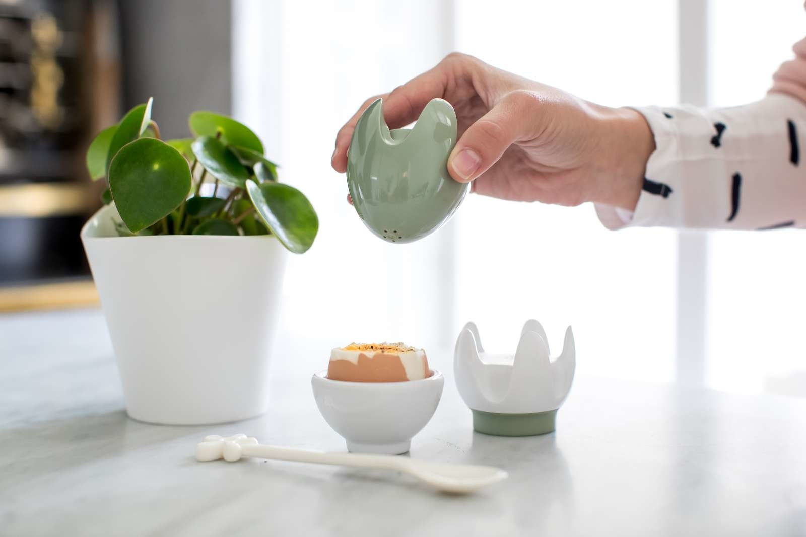 Koziol Salt and Pepper Set EIEI green