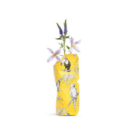 Pepe Heykoop Papier Vase Abdeckung  Yellow Birds small