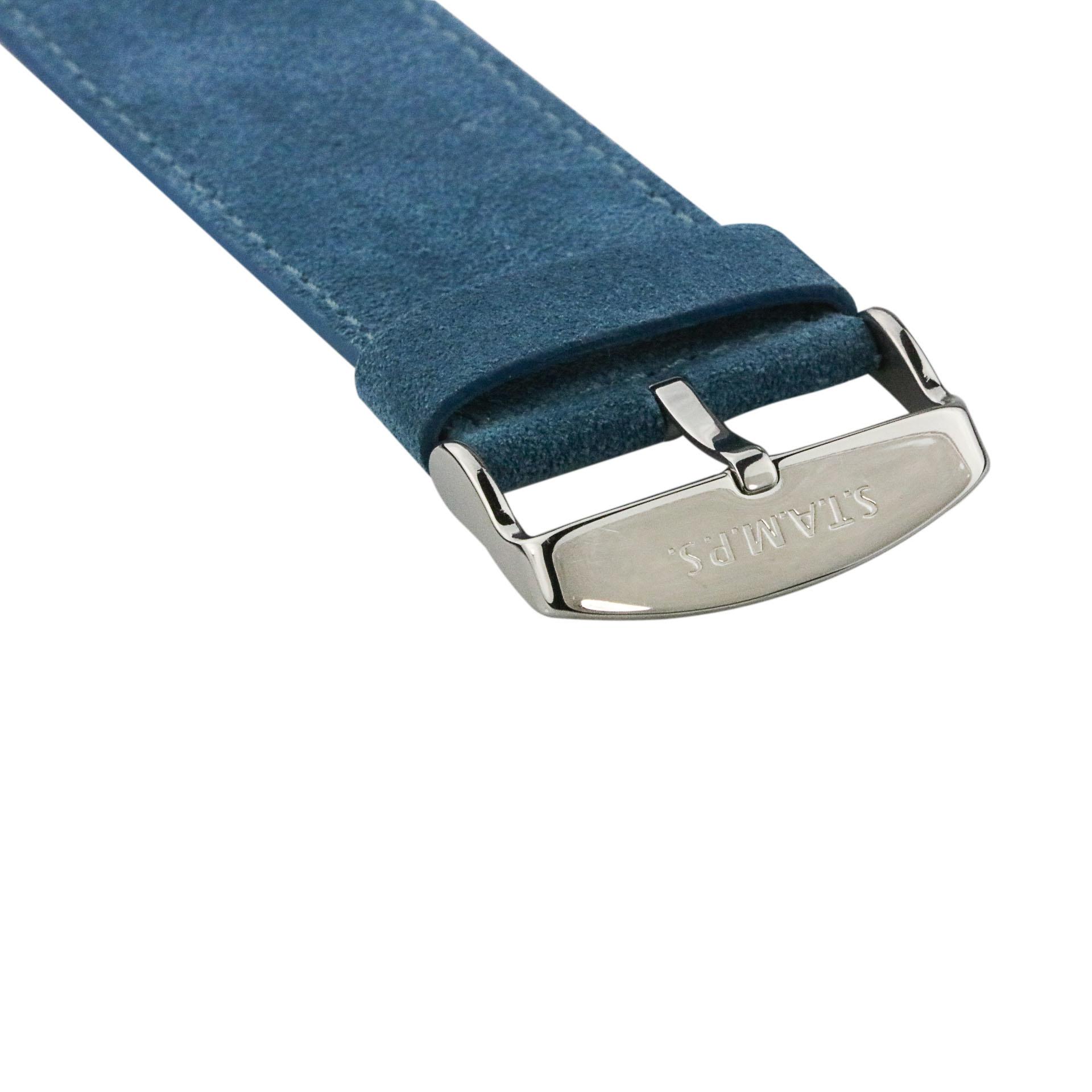 S.T.A.M.P.S Horlogeband Wild Leather dark cyan