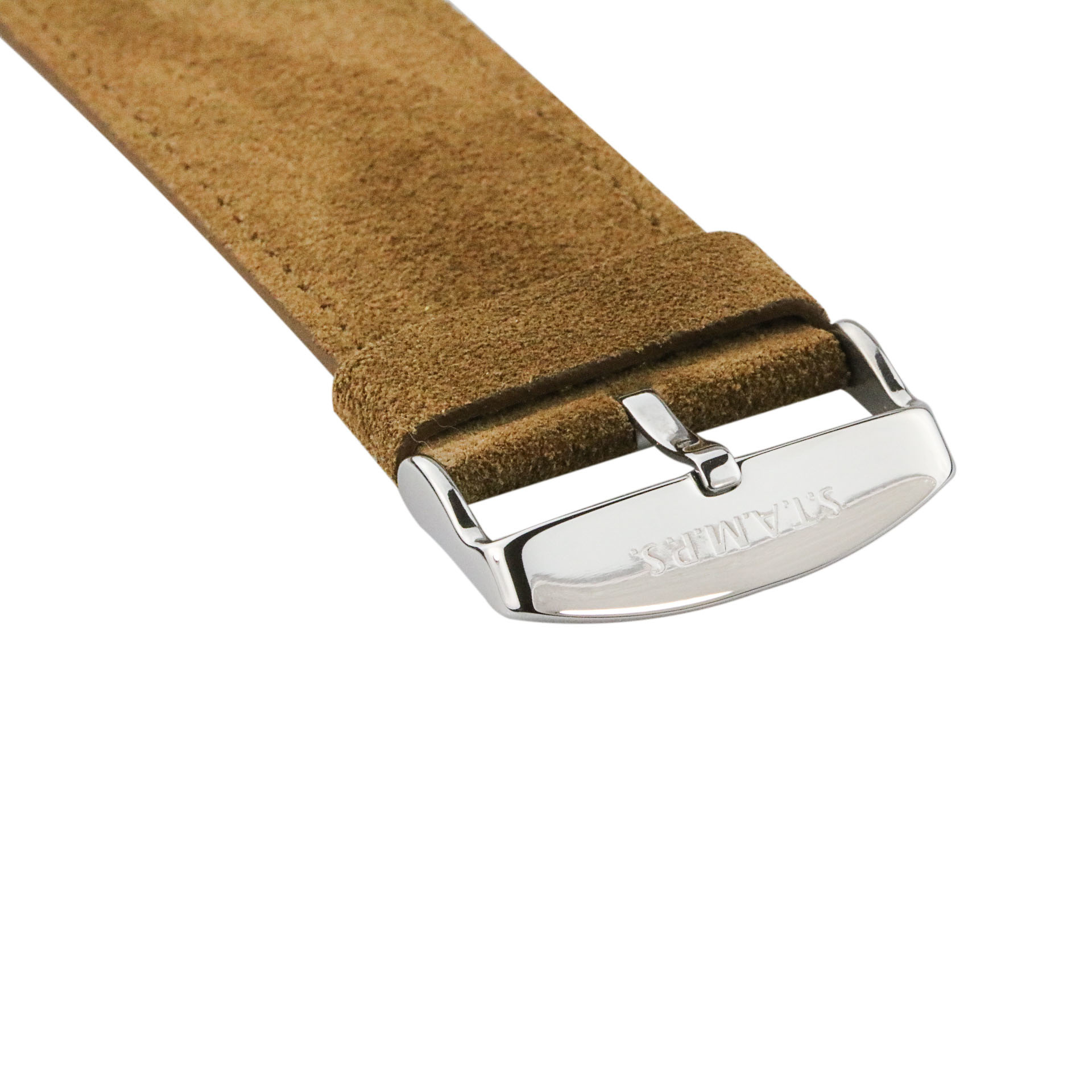 S.T.A.M.P.S Watchband Wild Leather brown