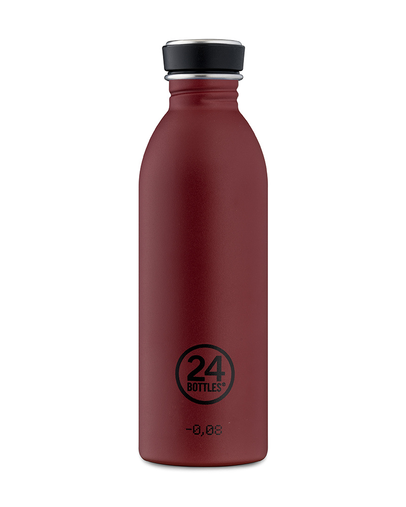 24Bottles Drinkfles Urban Bottle 0,5 L  Stone Country Red