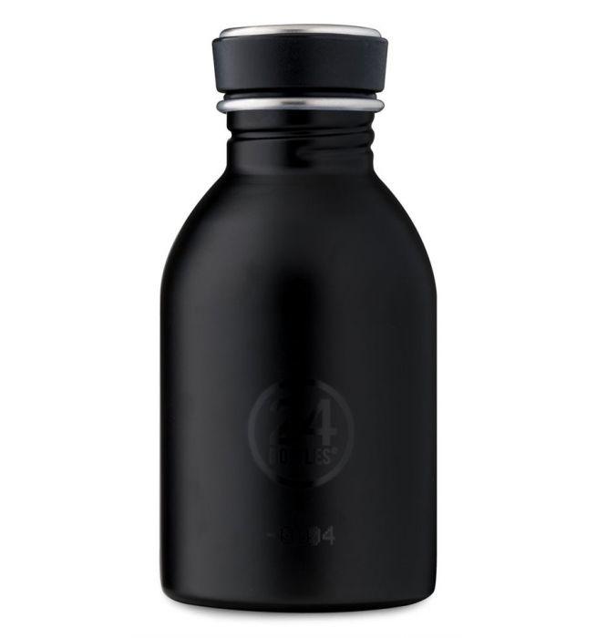 24Bottles Drinkfles Urban Bottle 0,25 L  Tuxedo black