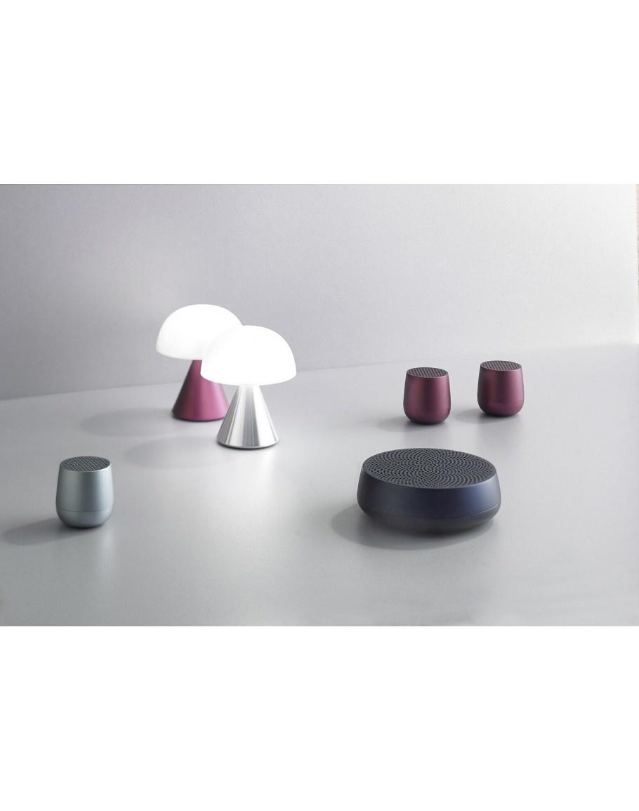 Lexon Wiederaufladbare  LED Lampe Mina silber