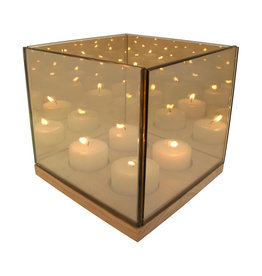 &Klevering Tealight holder  Reflection Quartet gold