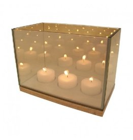 &Klevering Tealight holder  Reflection Triple gold