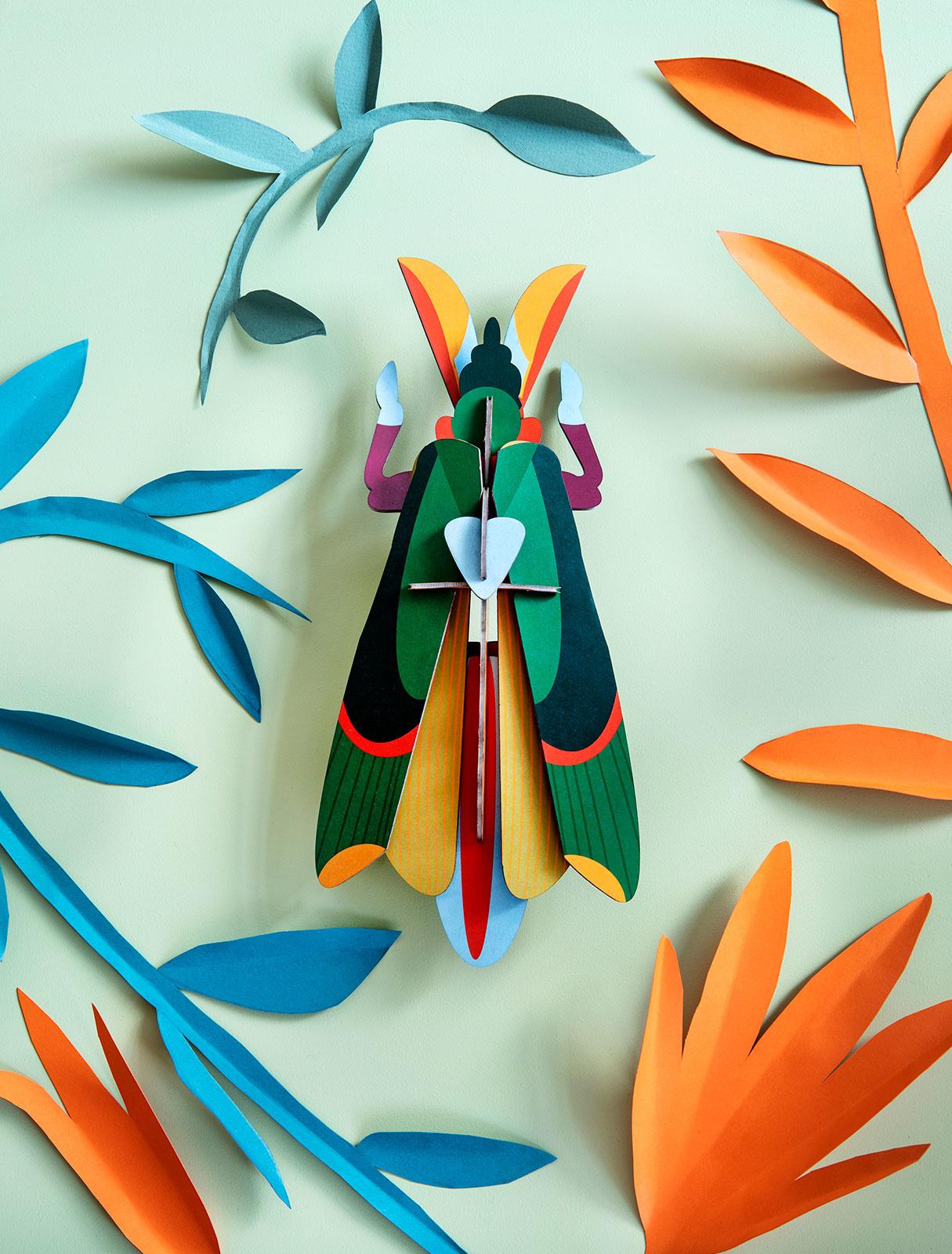 Studio Roof 3D Wanddecoratie Grasshopper