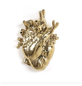 Seletti Vase Heart Love in Bloom gold