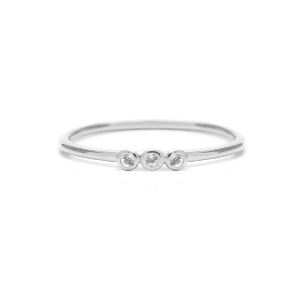Riverstones Jewels Ring Grace size 17 silver