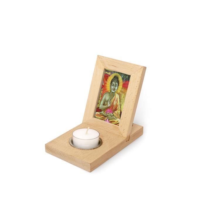Kikkerland Photo frame with tealight holder