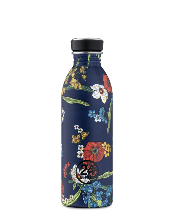 24Bottles Drinkfles Urban Bottle 0,5 L Denim Bouquet